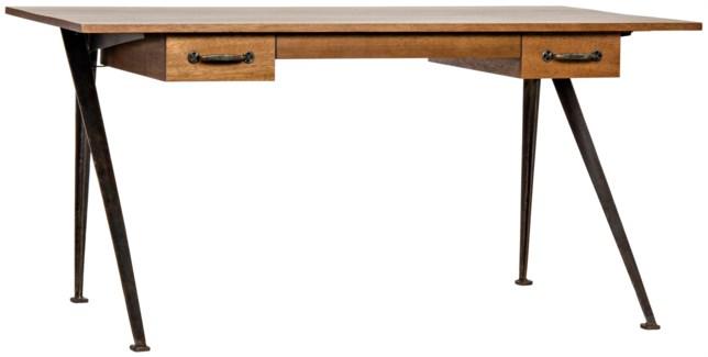 Kool Desk, Walnut and Metal