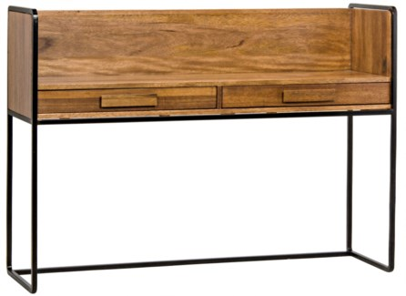 Privato Desk, Walnut and Metal