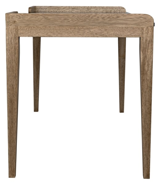 Wod Ward Desk, Bleached Walnut w/Stone Top