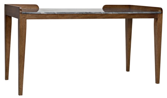 Wod Ward Desk, Dark Walnut w/ Stone Top