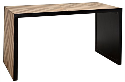 Herringbone Desk w/Metal