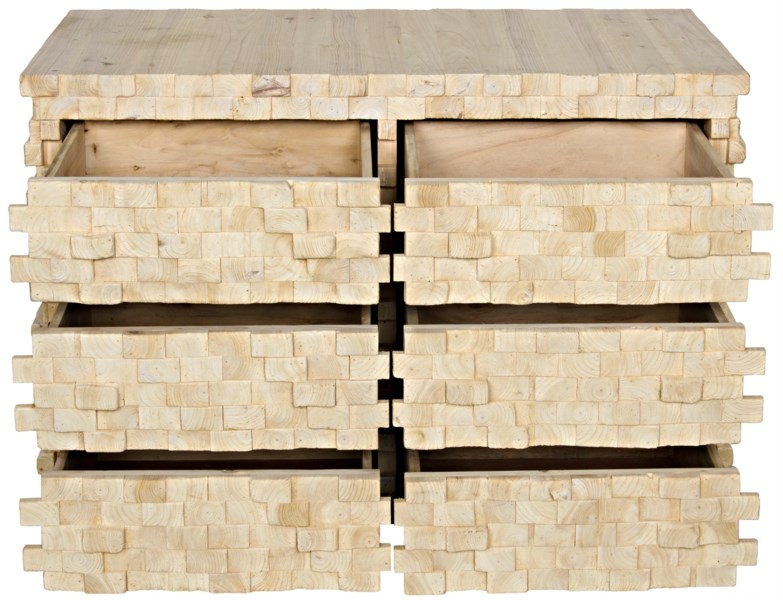 Stacked Sideboard, Bleached