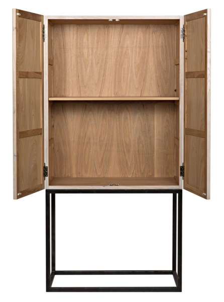Mephisto Cabinet, Walnut and Metal