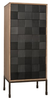 Bovery Hutch, Washed Walnut & Charcoal Finish