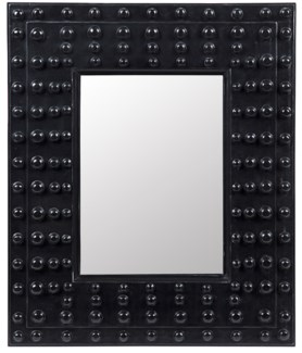 Darko Mirror, Hand Rubbed Black