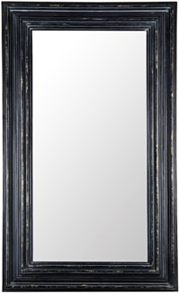 Cordelia Mirror, Hand Rubbed Black w/ Gold Trim