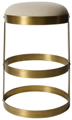 Dior Counter Stool, Antique Brass