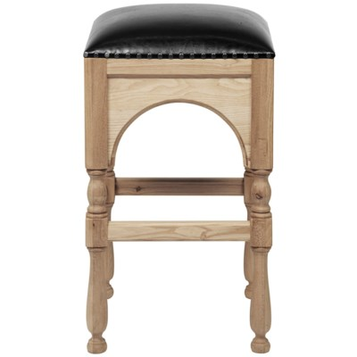 Blaine Bar Stool, Elm/Leather