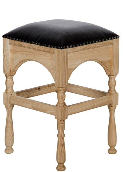 Blaine Counter Stool, Elm and Leather