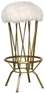 Marsha Bar Stool, Gold Finish