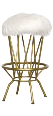 Marsha Counter Stool, Gold Finish