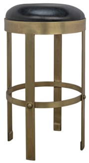 Prince Counter Stool w/Leather, Gold