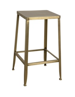 Mauro Counter Stool, Metal w/Brass Finish