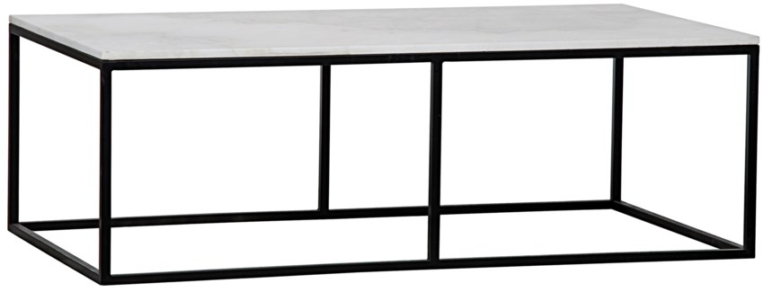 Lois Coffee Table, Metal and Quartz