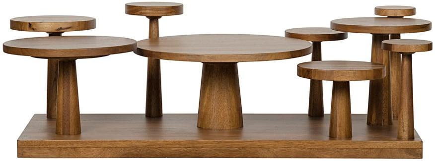 Anvil Coffee Table,, Dark Walnut