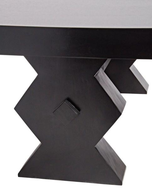 Suzu Coffee Table, Hand Rubbed Black