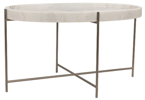 Che Cocktail Table, Antique Silver Finish