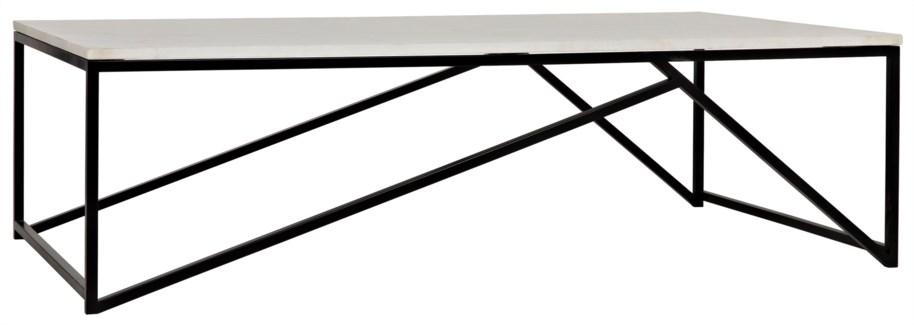 Molimo Coffee Table, Metal and Quartz