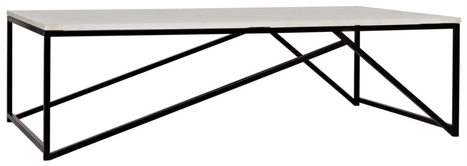 Molimo Coffee Table, Metal and Quartz