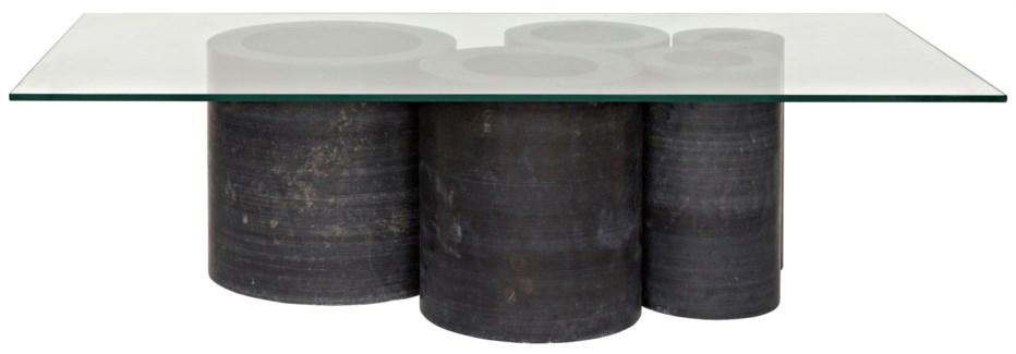 Golyath Coffee Table, Black Stone