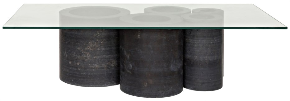 Golyath Coffee Table, Black Stone