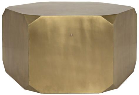 Tytus Coffee Table, Antique Brass