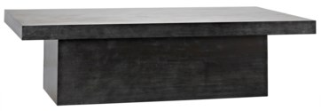 Prisms Coffee Table, Plain Zinc