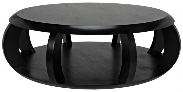Fujian Coffee Table, Hand Rubbed Black