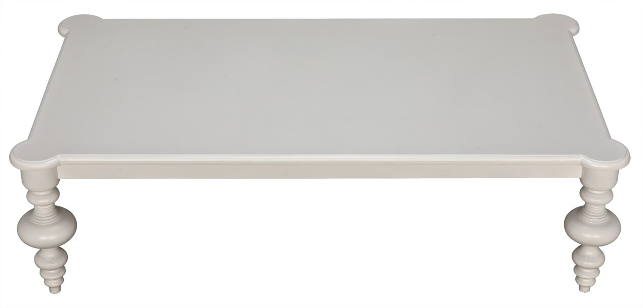 Graff Coffee Table, Solid White