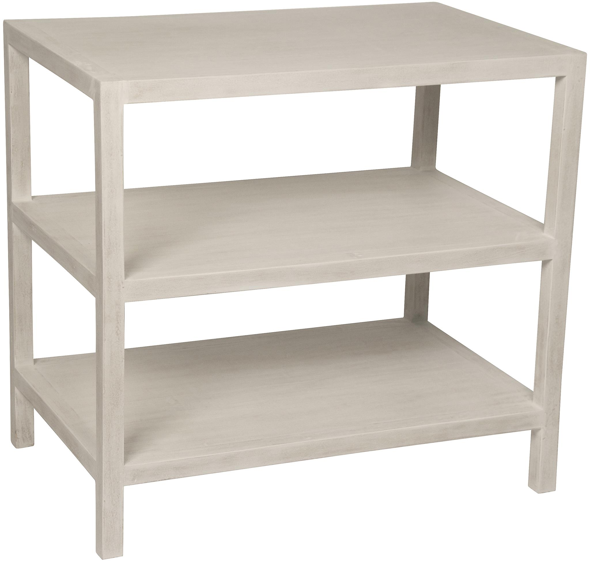 Bon QS 2 Shelf Side Table, White Wash