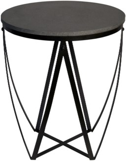 Diagram Side Table, Stone and Metal