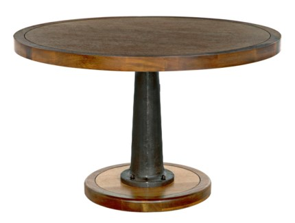"""Yacht Dining Table with Cast Pedestal, 48"""""""