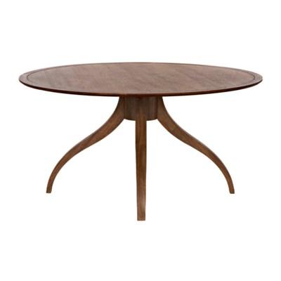 Vera Dining Table, Dark Walnut