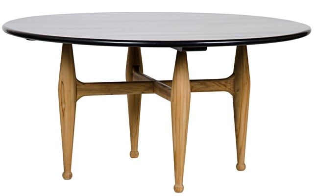 Brooke Dining Table, Teak Base w/ HB Top