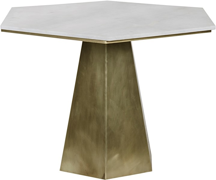 QS Demetria Table, Metal and Quartz