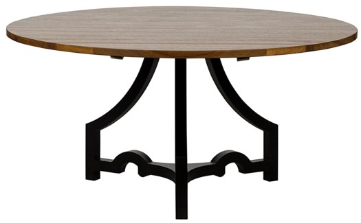 Bran Dining Table, Metal and Walnut