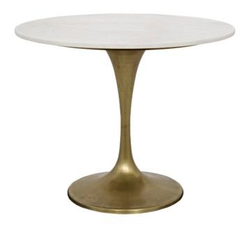 """Laredo Table, 36"""", Metal and Quartz"""
