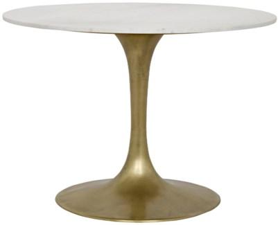 """Laredo Table, 40"""", Metal and Quartz"""