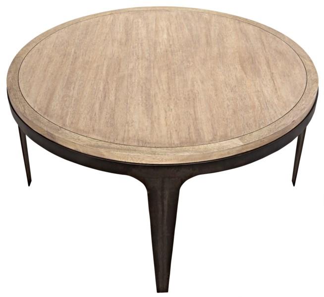 Rodolfo Table, Washed Walnut, Walnut and Metal