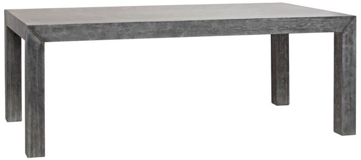 Simon Table, Plain Zinc and Wood