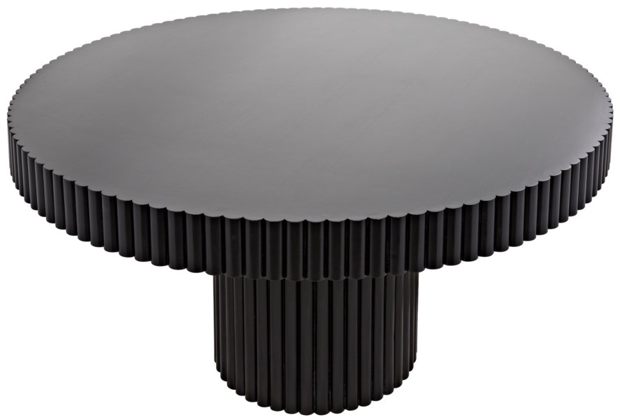 Luther Table, Hand Rubbed Black