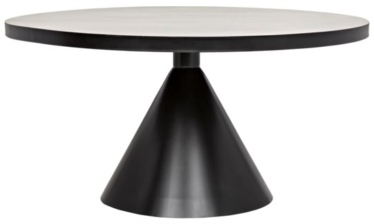 Cone Dining Table, Metal