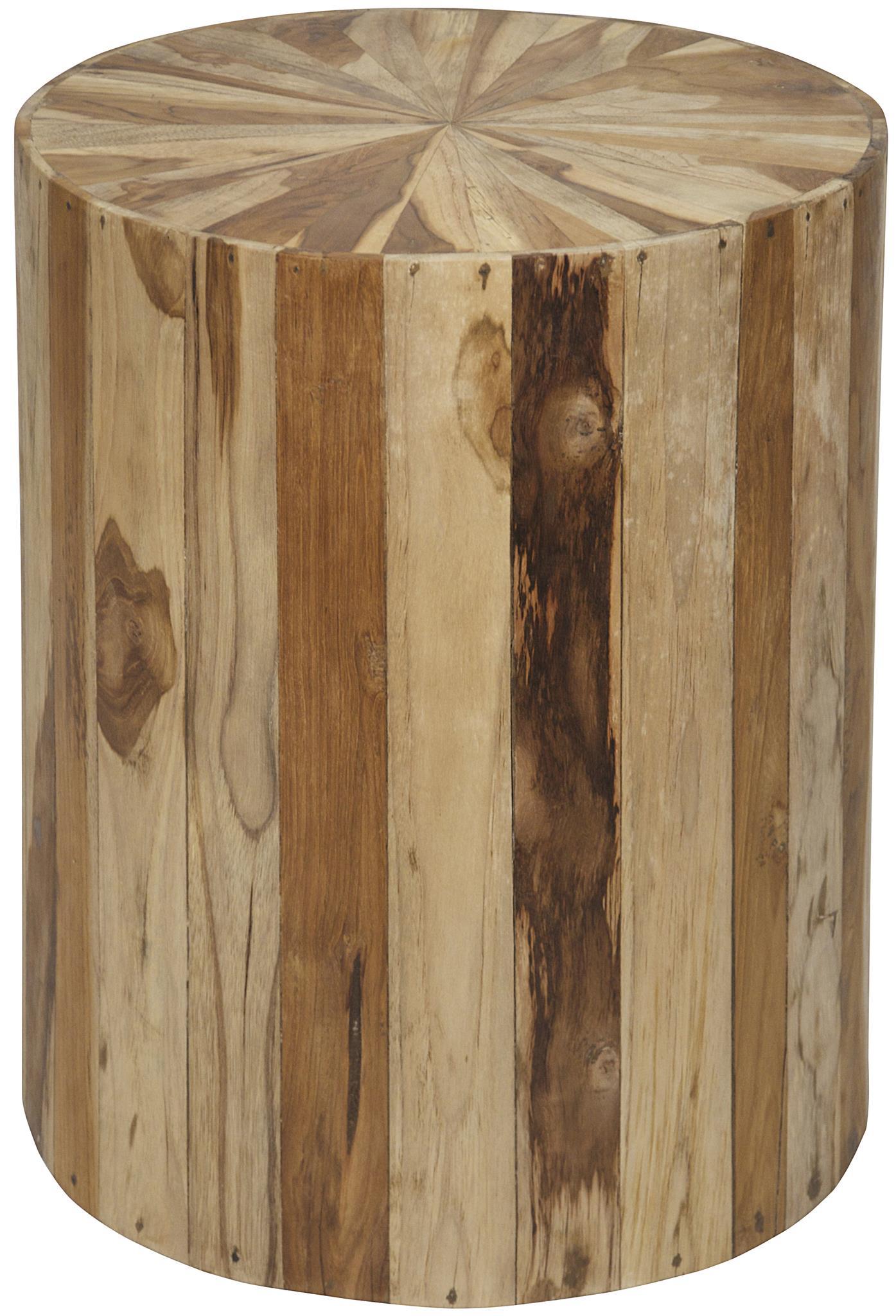 Round Teak Wood Side Table