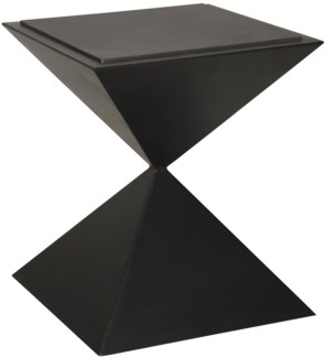 Sablier Side Table, Metal and Stone