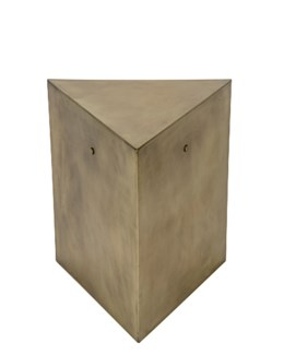 Triangle Side Table, C, Antique Brass