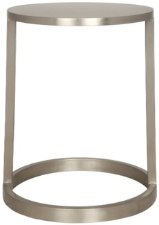 Tyler Side Table, Antique Silver