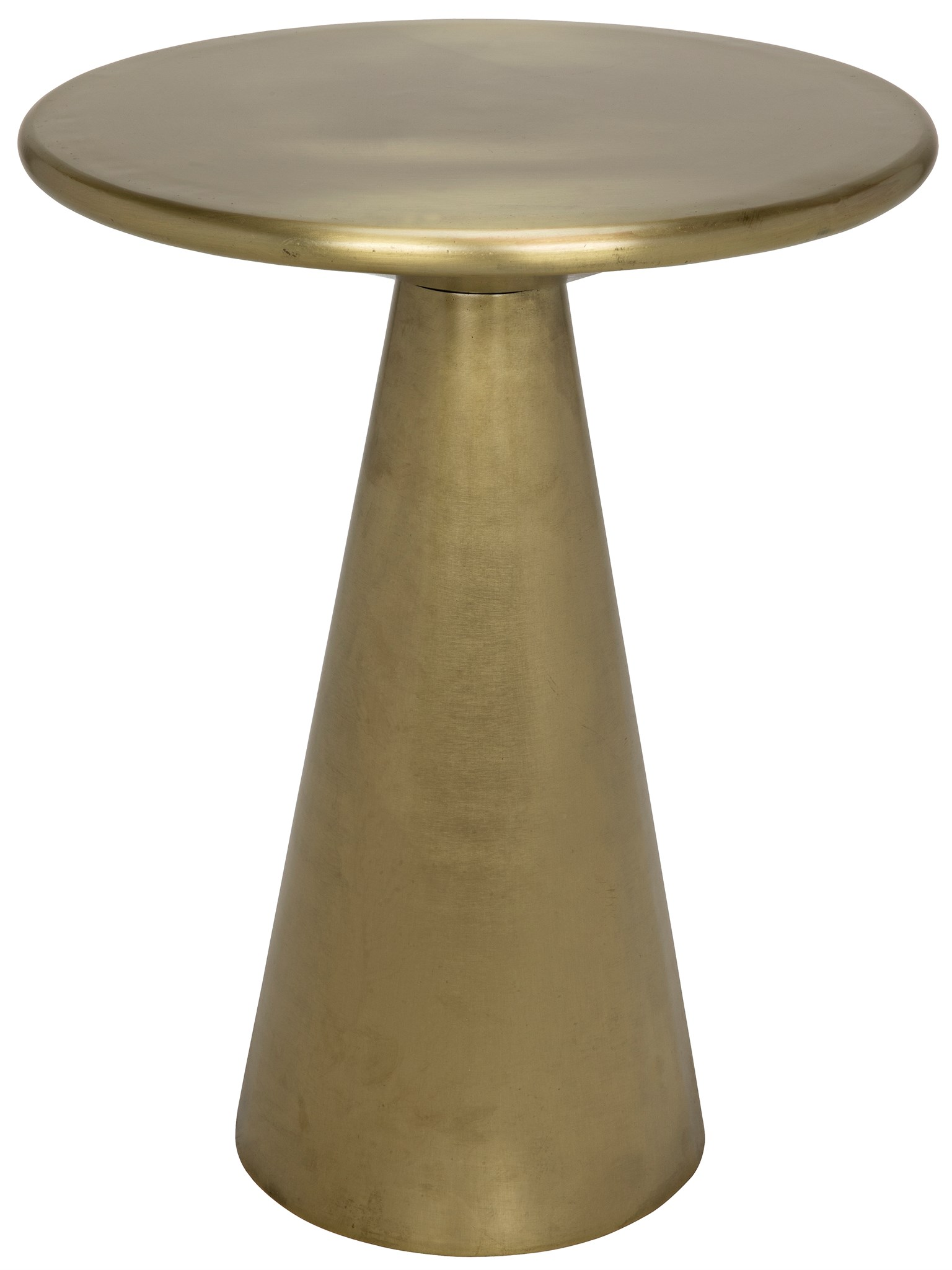Cassia Side Table Antique Brass Finish accent tables