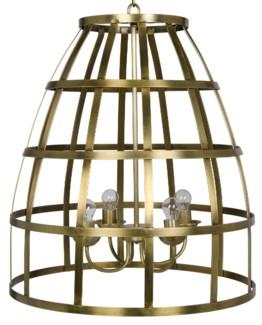 Birdcage Pendant 305, Antique Brass