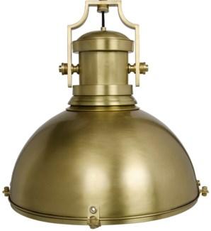 Marine Fixture Pendant, Antique Brass