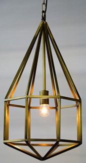 Diamond Pendant, A, Antique Brass